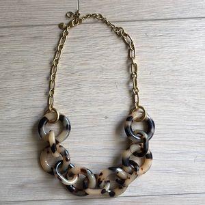 EUC J. Crew tortoise link necklace